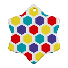 Hexagon Pattern  Ornament (Snowflake)