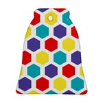 Hexagon Pattern  Ornament (Bell)  Front
