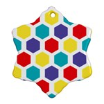 Hexagon Pattern  Snowflake Ornament (2-Side) Front