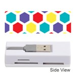 Hexagon Pattern  Memory Card Reader (Stick)  Front