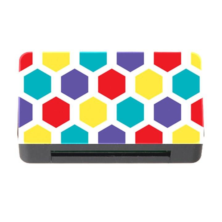 Hexagon Pattern  Memory Card Reader with CF