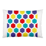 Hexagon Pattern  Pillow Case (Two Sides) Back