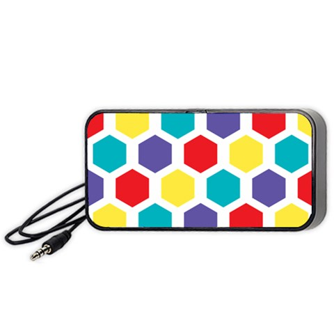 Hexagon Pattern  Portable Speaker (Black)