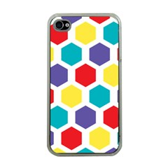 Hexagon Pattern  Apple iPhone 4 Case (Clear)