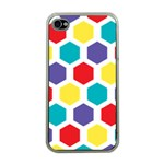 Hexagon Pattern  Apple iPhone 4 Case (Clear) Front