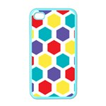 Hexagon Pattern  Apple iPhone 4 Case (Color) Front