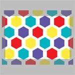 Hexagon Pattern  Deluxe Canvas 18  x 12   18  x 12  x 1.5  Stretched Canvas