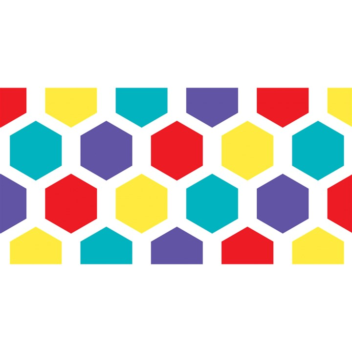 Hexagon Pattern  YOU ARE INVITED 3D Greeting Card (8x4)