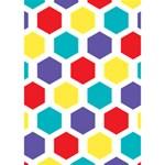 Hexagon Pattern  Heart Bottom 3D Greeting Card (7x5) Inside