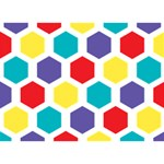 Hexagon Pattern  Ribbon 3D Greeting Card (7x5) Back