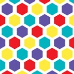 Hexagon Pattern  PARTY 3D Greeting Card (8x4) Inside