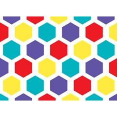Hexagon Pattern  Birthday Cake 3D Greeting Card (7x5)