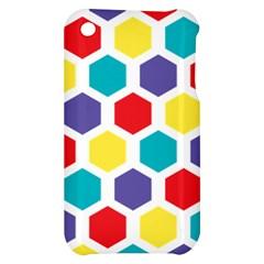 Hexagon Pattern  Apple iPhone 3G/3GS Hardshell Case