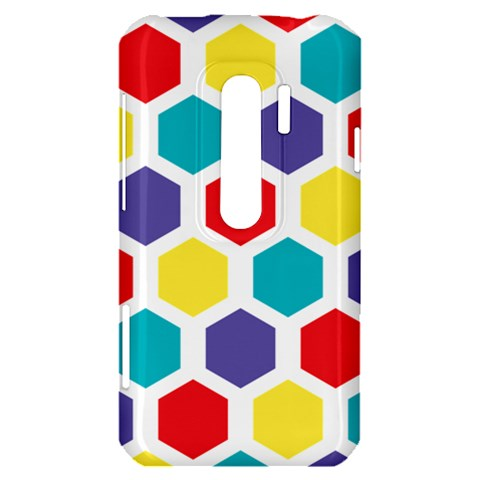 Hexagon Pattern  HTC Evo 3D Hardshell Case