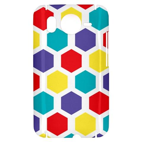 Hexagon Pattern  HTC Desire HD Hardshell Case