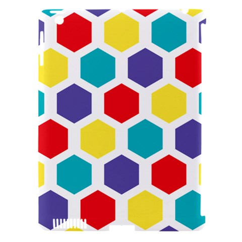Hexagon Pattern  Apple iPad 3/4 Hardshell Case (Compatible with Smart Cover)