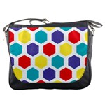 Hexagon Pattern  Messenger Bags Front
