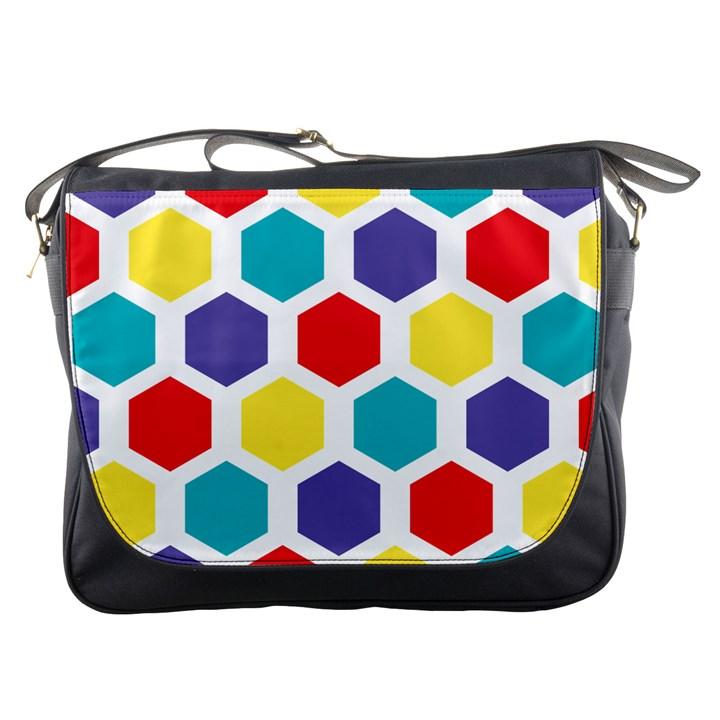 Hexagon Pattern  Messenger Bags