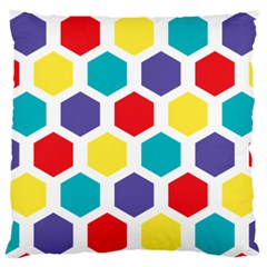 Hexagon Pattern  Large Cushion Case (One Side)