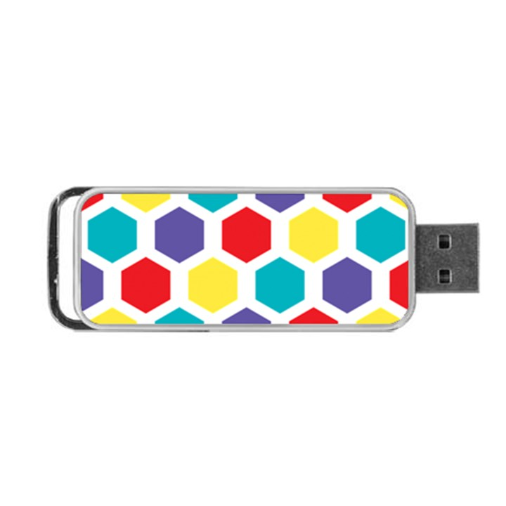 Hexagon Pattern  Portable USB Flash (One Side)