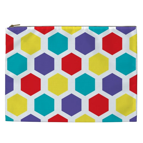 Hexagon Pattern  Cosmetic Bag (XXL)