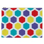 Hexagon Pattern  Cosmetic Bag (XXL)  Front