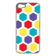 Hexagon Pattern  Apple iPhone 5 Case (Silver)