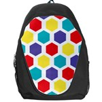Hexagon Pattern  Backpack Bag Front
