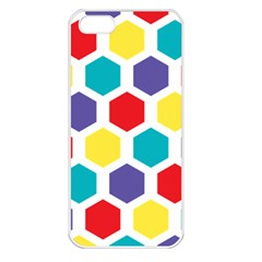 Hexagon Pattern  Apple iPhone 5 Seamless Case (White)