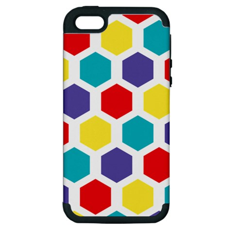 Hexagon Pattern  Apple iPhone 5 Hardshell Case (PC+Silicone)