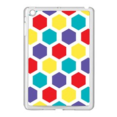 Hexagon Pattern  Apple iPad Mini Case (White)