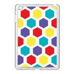 Hexagon Pattern  Apple iPad Mini Case (White) Front