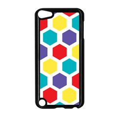 Hexagon Pattern  Apple iPod Touch 5 Case (Black)