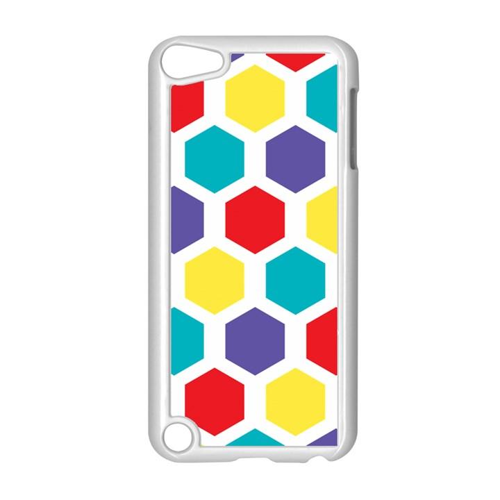 Hexagon Pattern  Apple iPod Touch 5 Case (White)