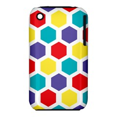 Hexagon Pattern  Apple iPhone 3G/3GS Hardshell Case (PC+Silicone)