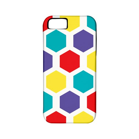Hexagon Pattern  Apple iPhone 5 Classic Hardshell Case (PC+Silicone)