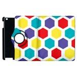 Hexagon Pattern  Apple iPad 2 Flip 360 Case Front