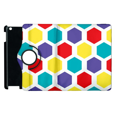 Hexagon Pattern  Apple iPad 3/4 Flip 360 Case