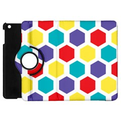 Hexagon Pattern  Apple iPad Mini Flip 360 Case