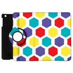 Hexagon Pattern  Apple iPad Mini Flip 360 Case Front