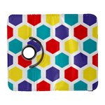 Hexagon Pattern  Samsung Galaxy S  III Flip 360 Case Front