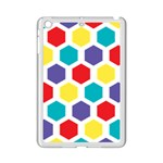 Hexagon Pattern  iPad Mini 2 Enamel Coated Cases Front