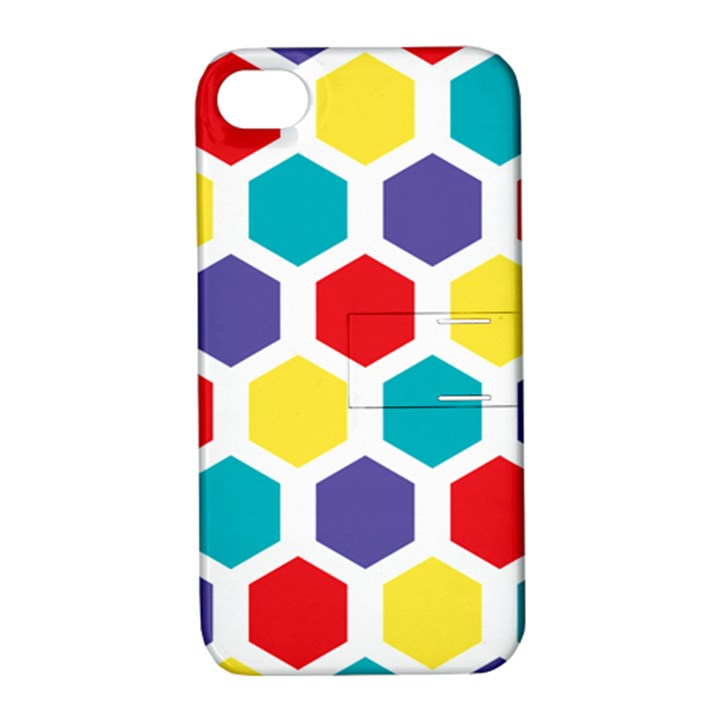 Hexagon Pattern  Apple iPhone 4/4S Hardshell Case with Stand