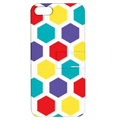 Hexagon Pattern  Apple iPhone 5 Hardshell Case with Stand