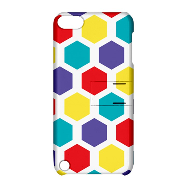 Hexagon Pattern  Apple iPod Touch 5 Hardshell Case with Stand