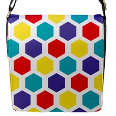 Hexagon Pattern  Flap Messenger Bag (S)