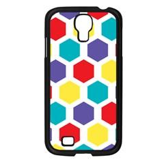 Hexagon Pattern  Samsung Galaxy S4 I9500/ I9505 Case (Black)