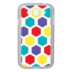 Hexagon Pattern  Samsung Galaxy Grand DUOS I9082 Case (White)