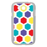 Hexagon Pattern  Samsung Galaxy Grand DUOS I9082 Case (White) Front