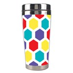 Hexagon Pattern  Stainless Steel Travel Tumblers Left